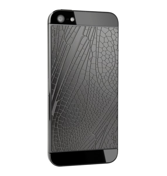 DRAGONFLY Black Gold - Engraved metal plate for iphone 5/5s