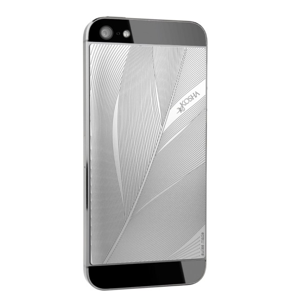 FEATHER Stainless Steel - Engraved metal plate for iphone 5/5s