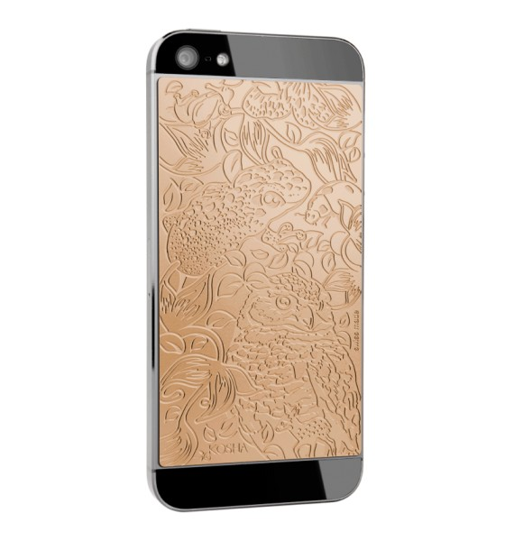 MELTING LUCK Red Gold - Engraved metal plate for iphone 5/5s