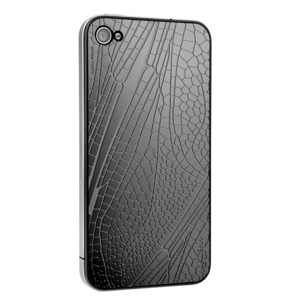 DRAGONFLY Black Gold - Engraved metal plate for iphone 4/4s