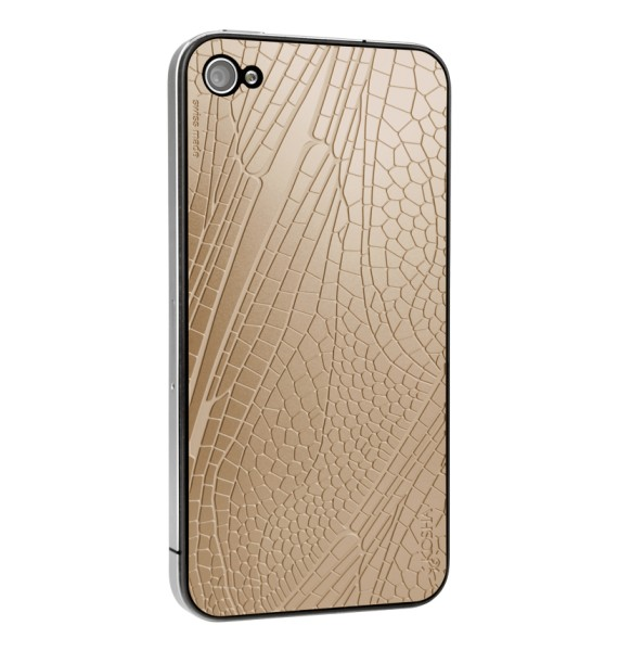 DRAGONFLY Red Gold - Engraved metal plate for iphone 4/4s