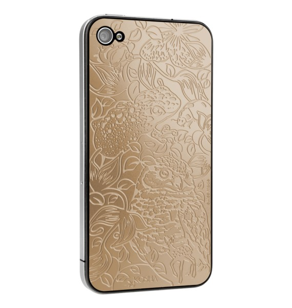 MELTING LUCK Red Gold - Engraved metal plate for iphone 4/4s